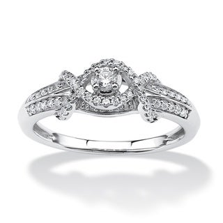 Isabella Collection 10k White Gold 1/4ct TDW Diamond Infinity Ring (H-I, I1-I2)