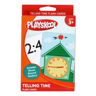 Playskool Ages 3+ Grade 1 'Telling Time' Flash Cards (36 Cards)