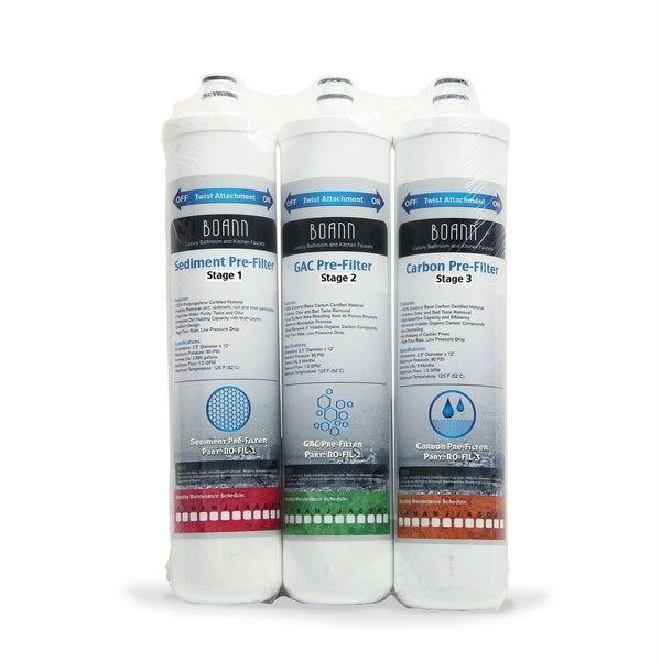 BOANN 6 Month Filter Pack for Reverse Osmosis Water Filtration System 13089061