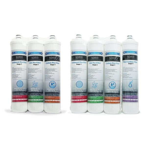 BOANN 1 Year Filter Pack for Reverse Osmosis Water Filtration System 13089063