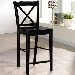 Oh! Home Ready to Assemble Black Counter Height Stool