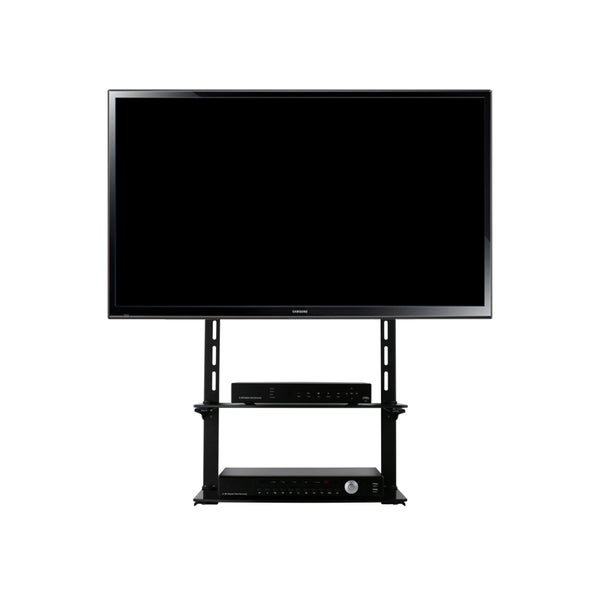 Mount-it! Low Profile Flat Panel TV Mount and Glass Entertainment Center Combo for 40-90 inch TV