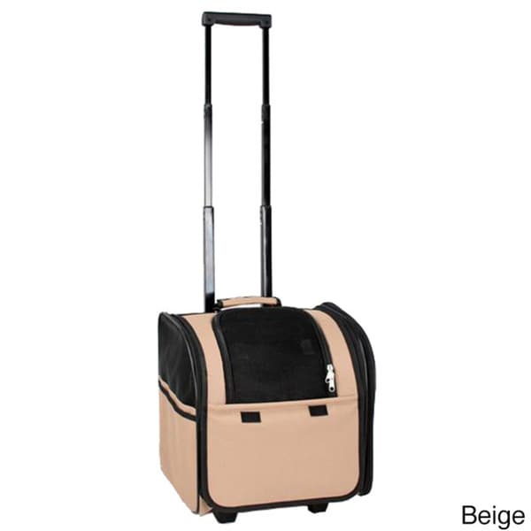 Pet Life Wheeled Airline Approved Travel Pet Carrier