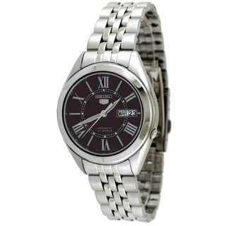 Seiko Men's 5 Silvertone Watch SNKL33K1