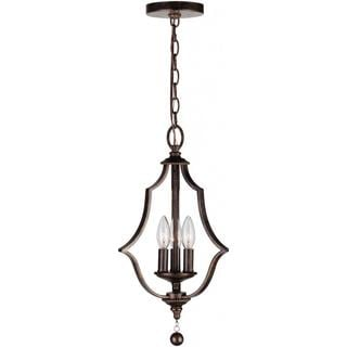 Crystorama Parson Collection 3-light English Bronze Pendant
