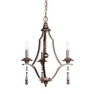 Parson 3-light English Bronze Chandelier