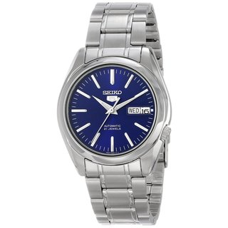 Seiko Men's 5 Silvertone Watch SNKL43K1