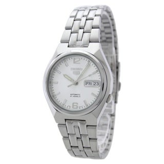 Seiko Men's 5 Silvertone Watch SNKL59K1