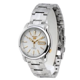 Seiko Men's 5 Silvertone Watch SNKL77K1
