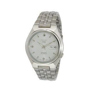 Seiko Men's 5 Automatic SNKL67K Silver Stainless-Steel Automatic Watch with Silver Dial