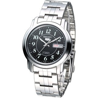 Seiko Men's 5 Silvertone Watch SNKL91K1