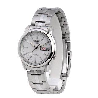 Seiko Men's 5 Silvertone Watch SNKL75K1