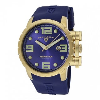 Swiss Legend Men's Ambassador Blue Watch SL-30021-YG-03