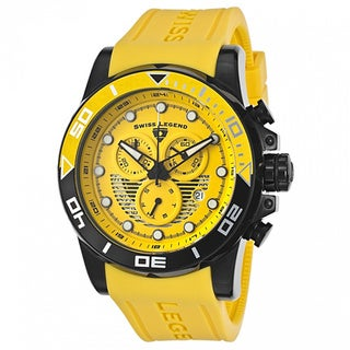 Swiss Legend Men's Avalanche Yellow Watch SL-21368-BB-07
