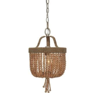 Eva Collection Single-light Burnished Silver Pendant Light