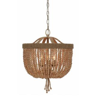 Eva Collection 3-light Burnished Silver Chandelier