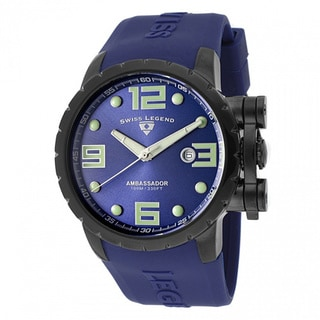 Swiss Legend Men's Ambassador Purple Watch SL-30021-BB-03