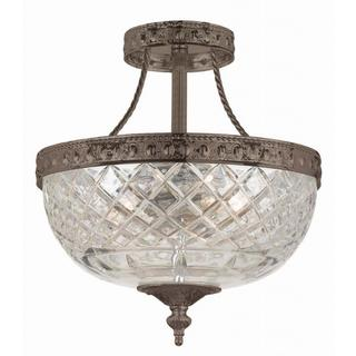 Richmond English Bronze Semi-flush Ceiling Light