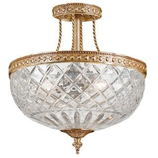 Richmond 2-light Olde Brass Semi-flush Ceiling Light