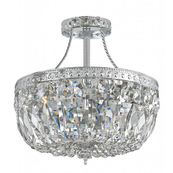 Richmond 3-light Polished Chrome Semi-flush Ceiling Light
