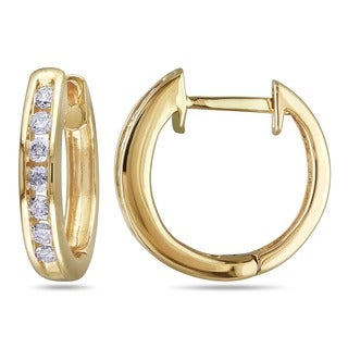 Miadora 10k Yellow Gold 1/4ct TDW Diamond Cuff Earrings (H-I, I2-I3)