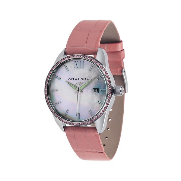 Android Women's 'Princess' Pink Leather Watch