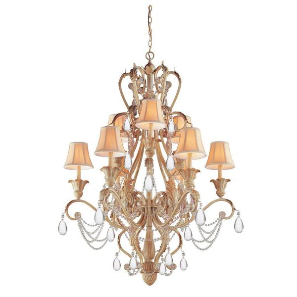 Winslow Champagne 12-light Chandelier