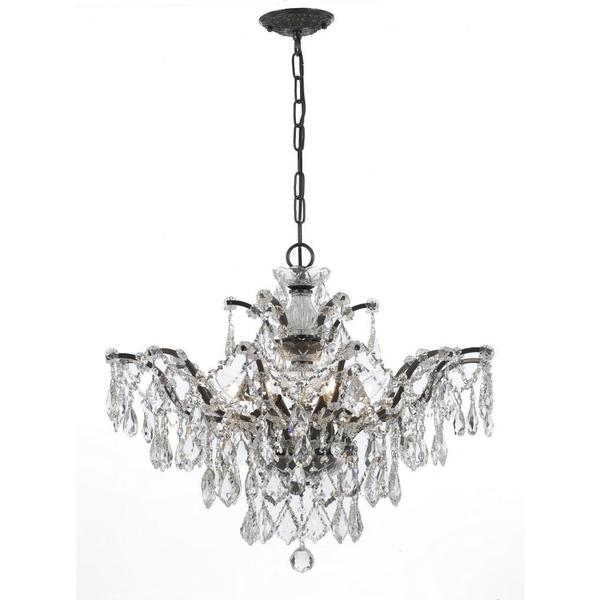 Crystorama Filmore Collection 6-light Vibrant Bronze/ Crystal Chandelier 13091116
