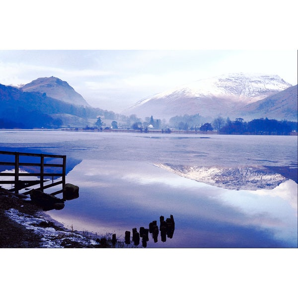 Lakeshore in England' Gallery-wrapped Canvas Art