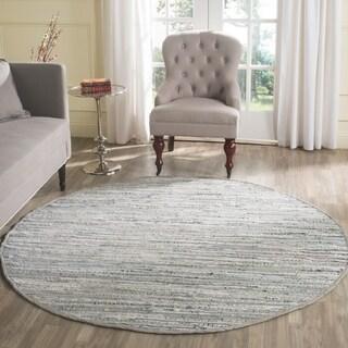 Safavieh Hand-woven Rag Rug Grey Cotton Rug (6' Round)