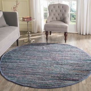 Safavieh Hand-woven Rag Rug Purple Cotton Rug (6' Round)