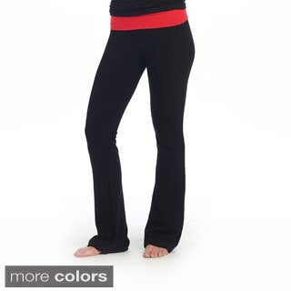 Hadari Women's Fold-over Yoga Pants
