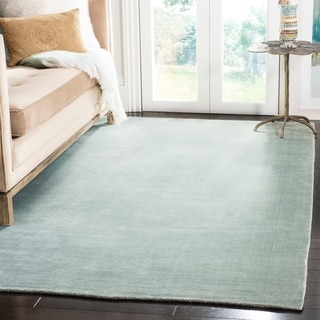 Safavieh Loom-knotted Mirage Blue Viscose Rug (9' x 12')