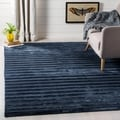 Safavieh Loom-knotted Mirage Navy/ Blue Viscose Rug (6' x 9')