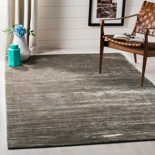 Safavieh Loom-knotted Mirage Graphite Viscose Rug (6' x 9')