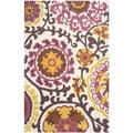 Safavieh Hand-loomed Cedar Brook Purple Cotton Rug (7'3 x 9'3)