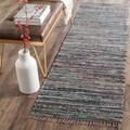 Safavieh Hand-woven Rag Rug Rust Cotton Rug (2'3 x 8')