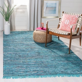 Safavieh Hand-woven Rag Rug Blue Cotton Rug (2'6 x 4')
