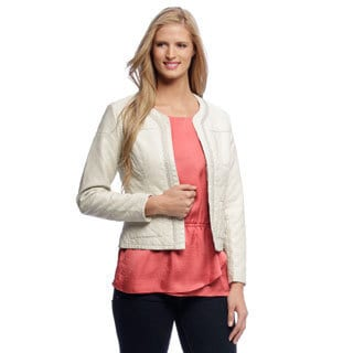 Live a Little Women's Quilted Jacket with Beaded Chain