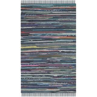 Safavieh Hand-woven Rag Rug Ink Cotton Rug (2'6 x 4')