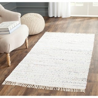 Safavieh Hand-woven Rag Rug Ivory Cotton Rug (3' x 5')