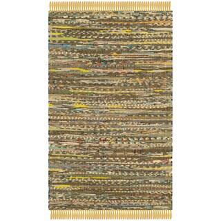 Safavieh Hand-woven Rag Rug Yellow Cotton Rug (2' x 3')