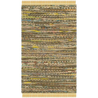 Safavieh Hand-woven Rag Rug Yellow Cotton Rug (2' x 3')