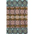Safavieh Hand-loomed Cedar Brook Turquoise/ Burgundy Cotton Rug (2'3 x 3'9)