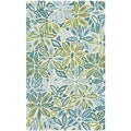 Safavieh Hand-loomed Cedar Brook Light Blue/ Green Cotton Rug (2'6 x 4')