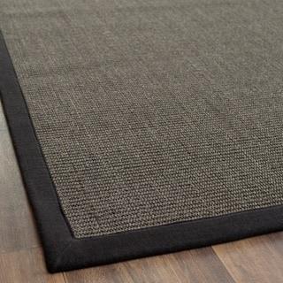 Safavieh Hand-woven Natural Fiber Serenity Charcoal Grey Sisal Rug (2' x 3')
