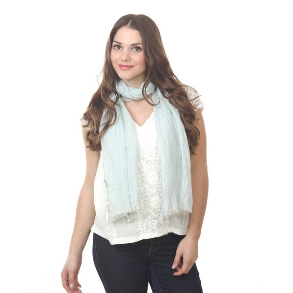 Frayed Linen Solid Scarf