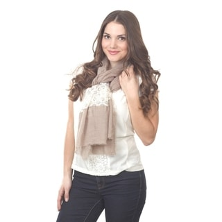 Two-tone Lace Inset Scarf