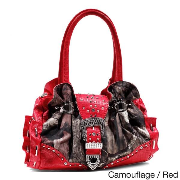 Mossy Oak Croc-studded Fashion Camouflage Bag
