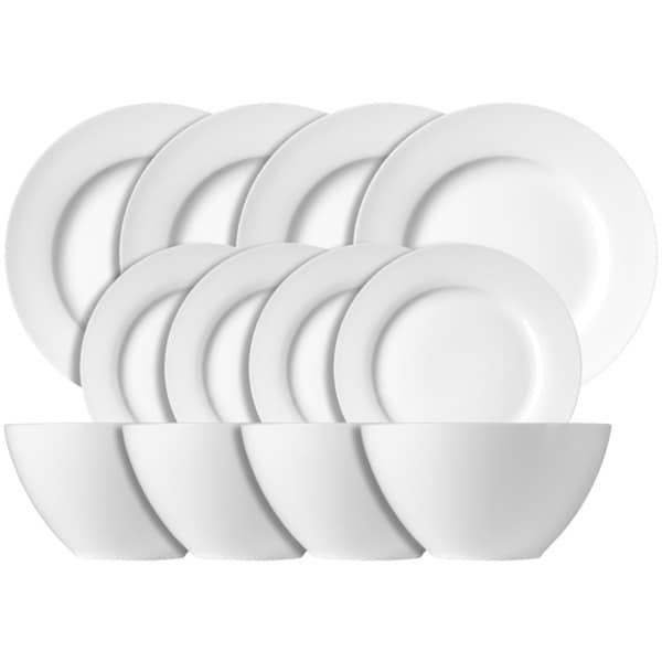 Luigi Bormioli White Dinnerware 12-piece Set
